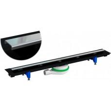 Комплект Prevex : лінійний обрізній жолоб EASY LINE CLASSIC 350-1070мм, хромована обрізна решітка 280-1000 мм