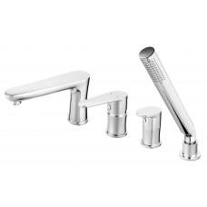 FERRO Змішувач ALGEO для ванни з висувною душовою ручкою