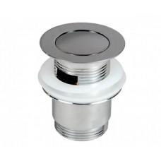 Донний клапан Prevex сифона для умивальника з переливом, клік-клак з малою заглушкою, метал